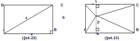 Bir dikdörtgenin kenarlarını, alanıyla ve bir tarafı ile köşegeniyle dikdörtgenin kenarı arasındaki açı ile nasıl bulurum