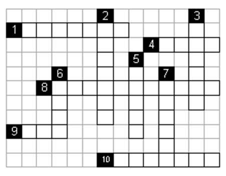 Aşağıdaki bulmacayı soruları cevaplayarak çözünüz 2x10